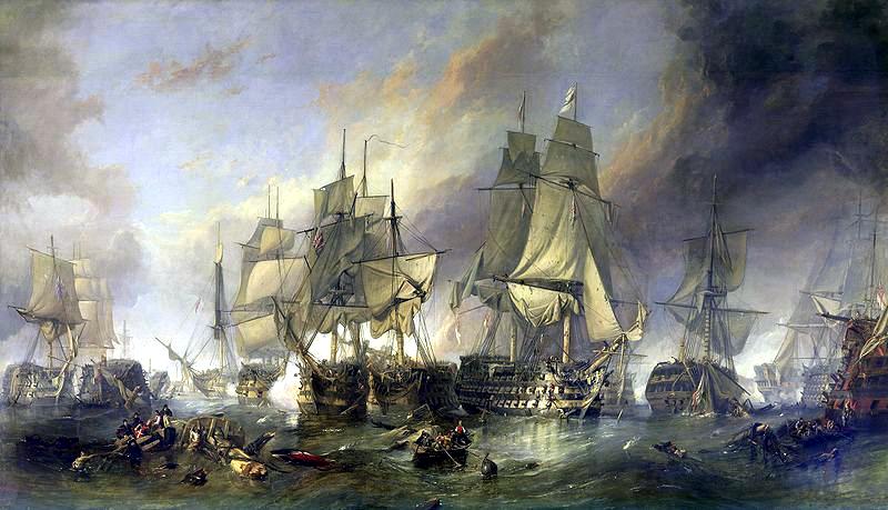 Battle of Trafalgar. October 1805